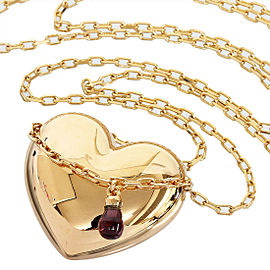 Boucheron 18K Rose Gold & Amethyst Heart Necklace