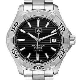 Tag Heuer Aquaracer Black Dial Automatic Steel Mens Watch WAY2110 Box