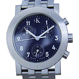 Calvin Klein Stainless Steel Blue Dial Quartz 33mm Mens Watch c2000
