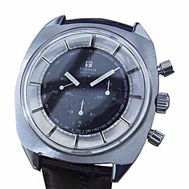 Tissot Seastar T12 Stainless Steel & Leather Manual Chronograph Swiss Made 42mm Mens Watch 1970s