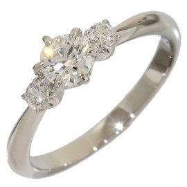 Mikimoto Platinum 0.32 Ct Diamond Band Ring Size 3.75