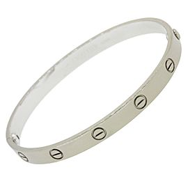 Cartier Love 18K White Gold Screw Bangle Bracelet Size 17