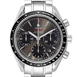 Omega Speedmaster Day-Date Grey Dial Mens Watch 323.30.40.40.06.001 Card