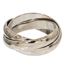 Cartier 18K White Gold Trinity de 3 Bands Ring Size 4.75