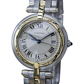 Cartier Pathere Ronde 18K Gold and Stainless Steel 30mm Mens Watch