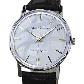Seiko Champion Stainless Steel / Leather Vintage 34mm Mens Watch