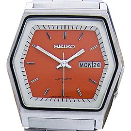 Seiko 6309-513C Stainless Steel Automatic 37mm Mens Watch 1970s