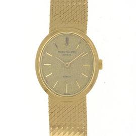 Patek Philippe 18K Yellow Gold Manual Vintage 20mm Womens Watch