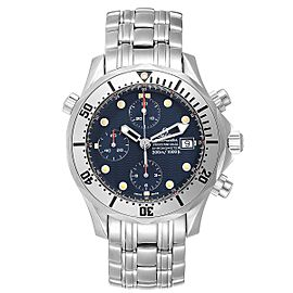 Omega Seamaster Blue Dial Chronograph Steel Mens Watch 2598.80.00