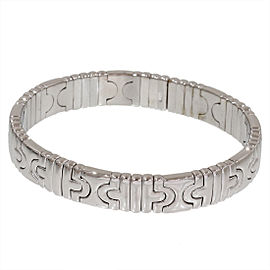 Bulgari 18K White Gold Parentesi Design Bracelet Bangle