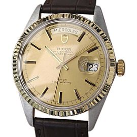 Rolex Tudor Oyster Prince 698140 Stainless Steel and Gold Plated Vintage 37.5mm Mens Watch