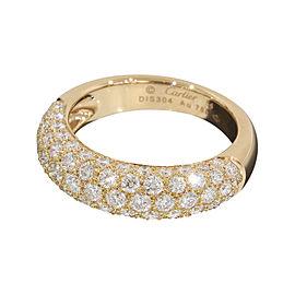 Cartier 18K Rose Gold Pave Diamonds Ring Size 7