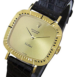 Rolex Cellini 18K Yellow Gold Vintage 25mm Womens Watch