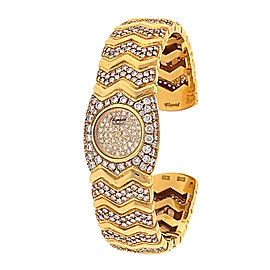 Chopard Happy Diamonds 10/4968 18K Yellow Gold Quartz 18mm Womens Watch