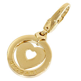 Bulgari Bvlgari Tondo 18K Yellow Gold Heart Charm Pendant