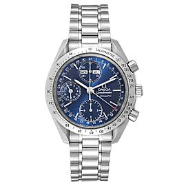Omega Speedmaster Day Date Blue Dial Steel Mens Watch 3521.80.00 Card