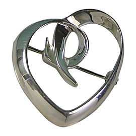 Tiffany & Co. Paloma Picasso 925 Sterling Silver Puffy Heart Brooch Pin