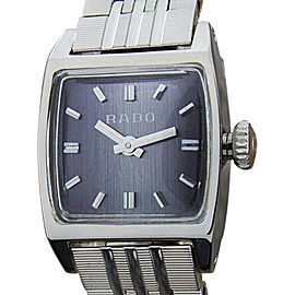 Rado T966 Stainless Steel Manual 24mm Womens Dress Watch 1960s
