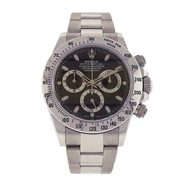Rolex Daytona 116520 Stainless Steel Chronograph Automatic Oyster Black 40mm Mens Watch