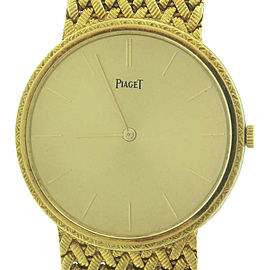 Piaget 9643 D 3 18K Yellow Gold Hand-Winding Vintage 31.5mm Unisex Watch