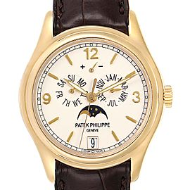 Patek Philippe Complicated Annual Calendar Yellow Gold Mens Watch 5146