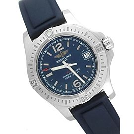 Breitling Colt A77388 Stainless Steel / Rubber Quartz 33mm Womens Watch