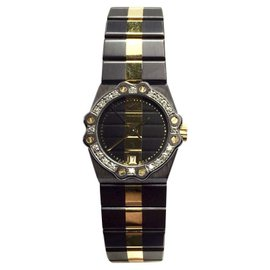 Chopard 18K Yellow Gold & Stainless Steel Quartz 24mm Womens Watch