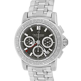 Bucherer Patravi Chronograph GMT 00.10610.08.33.21 40mm Mens Watch