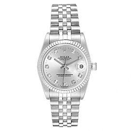 Rolex Datejust Midsize Steel White Gold Diamond Ladies Watch 78274