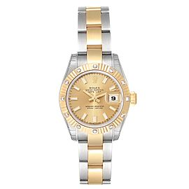 Rolex Datejust Steel Yellow Gold Diamond Ladies Watch 179313 Unworn