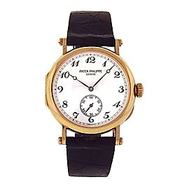 Patek Philippe Calatrava Officers 3960J 18K Yellow Gold Manual Wind 21mm Mens Watch