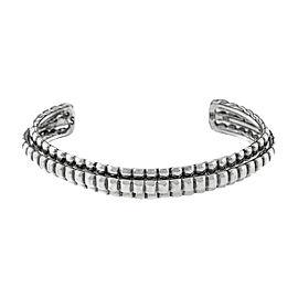 John Hardy 925 Sterling Silver Three-Row Cuff Bracelet