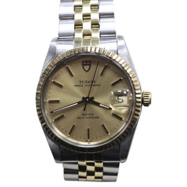 Rolex 75203 Tudor Prince Oyster Date 14K Yellow Gold Plated & Stainless Steel Automatic 34mm Unisex Watch