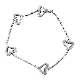 Chimento 18K White Gold Open Heart Link Bracelet