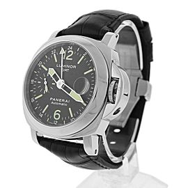 Panerai Luminor GMT PAM00237 Stainless Steel with Black Dial 44mm Mens Watch