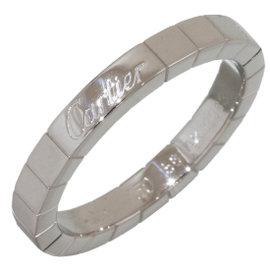 Cartier Lanieres 18K White Gold Band Ring Size 8