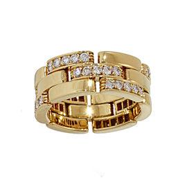 Cartier Mailon Panthere 18K Yellow Gold Diamonds Ring Size 6.25