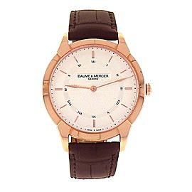 Baume & Mercier Classima Executives M0A08801 18K Rose Gold Manual 41mm Mens Watch