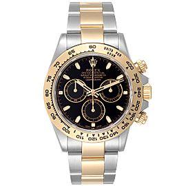 Rolex Cosmograph Daytona Black Dial Steel Yellow Gold Mens Watch 116503