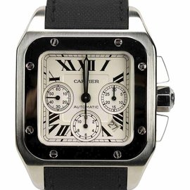 Cartier Santos W20090X8 / 2740 Stainless Steel with Ivory Dial 41mm Mens Watch