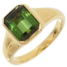 Bulgari 18K Yellow Gold with Tourmaline Ring Size 5.5