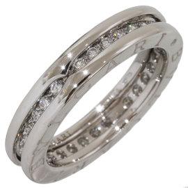 Bulgari B.ZERO1 18K White Gold with Diamond Band Ring Size 6
