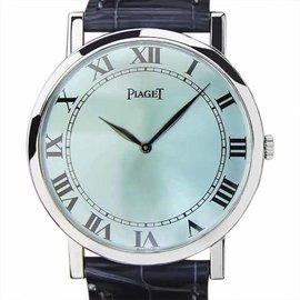 Piaget 18K White Gold Manual Mens 32mm Watch 1980