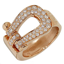 Fred Force 18K Rose Gold with Diamonds Band Ring Size 5