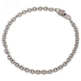 Damiani 18K White Gold Chain Link Bracelet