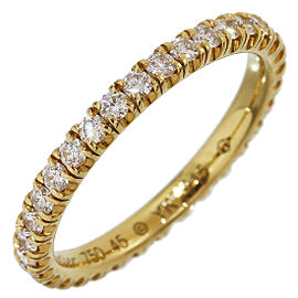 Cartier 18K Yellow Gold with Diamond Eternity Ring Size 3.5