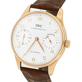 IWC Portuguese 2000 IW500004 18K Rose Gold & Leather Automatic 42.30mm Mens Watch