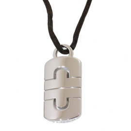 Bulgari Parentesi 18K White Gold & Cord Pendant Necklace