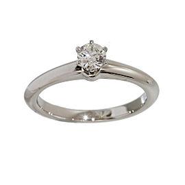 Tiffany & Co. 950 Platinum & 0.24ct Diamond Solitaire Ring Size 5.25