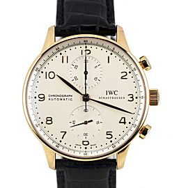 IWC Portuguese IW371402 18K Yellow Gold & Leather Automatic 41mm Mens Watch